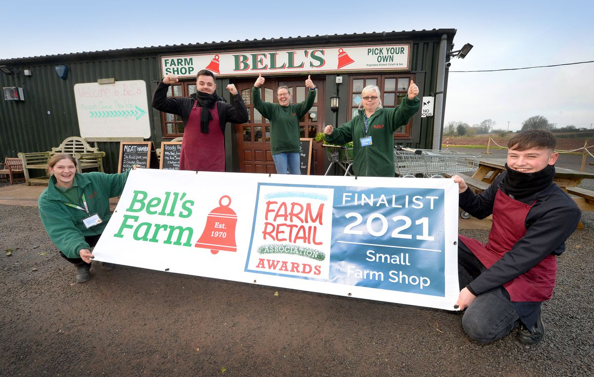Members of staff from Bell's Farm shop which has been nominted for an award