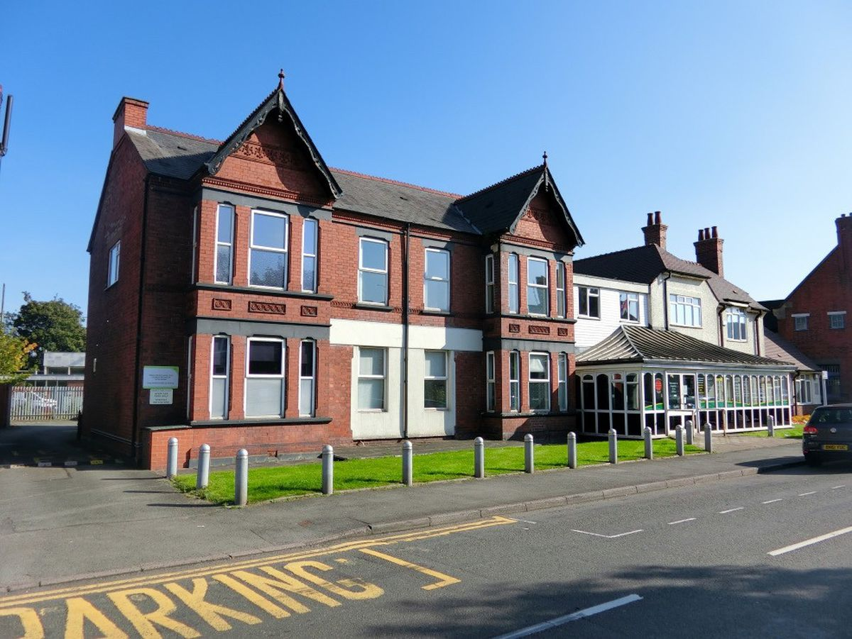 The former Rugeley Town Council building which will be converted into supported living apartments