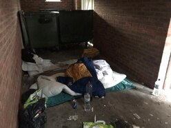 Call for action over rough sleepers using private bin stores to take drugs in Tipton