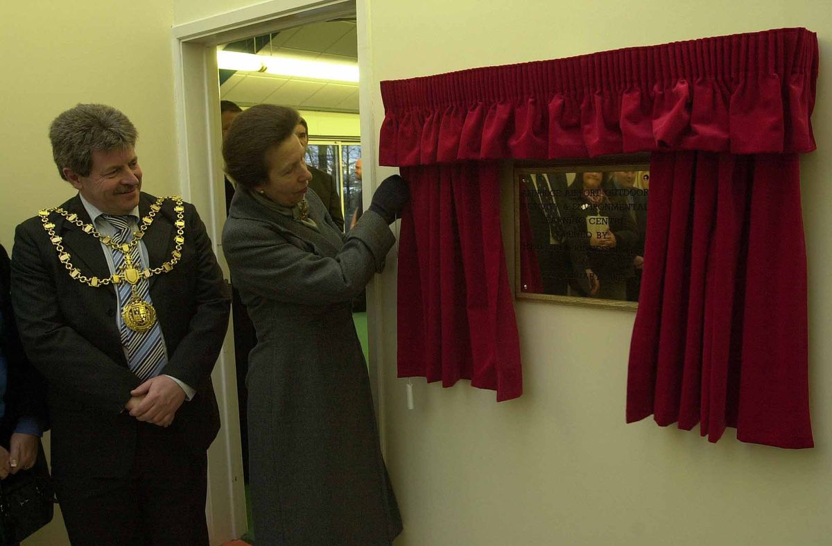 Princess Anne officially opened Aldridge Airpot Outdoor Centre in 2008