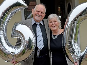 John and Doreen Scarratt from Pelsall are celebrating their diamond wedding anniversary today with a champagne toast