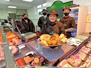 The Pelsall Butchery and Bakery have taken over from the long established and very popular award winning Turners Butchers. Pictured back left , Shallu Puri, Reece Bate, Lian Scott and front Alison Gutteridge