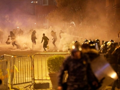 Security forces fire tear gas as protests in Beirut turn ugly