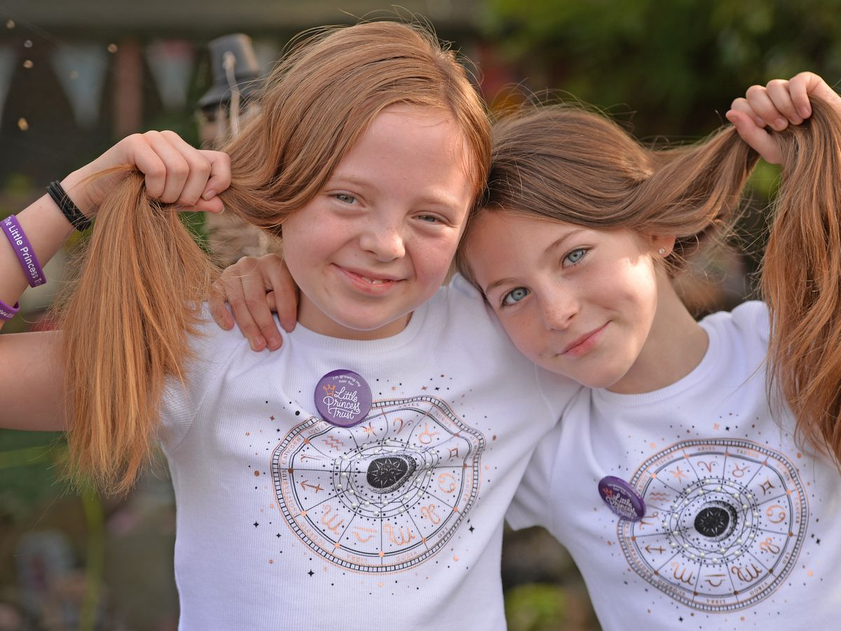 Arla Farley, nine, and Lottie Giles-Dawson, 10, from Aldridge will be donating their hair to the Little Princess Trust