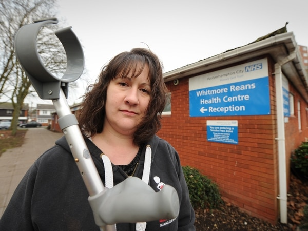 Trapped: Woman locked in at Wolverhampton health centre after popping to the loo
