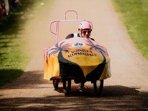 Action from Shrewsbury's Wacky Races last year