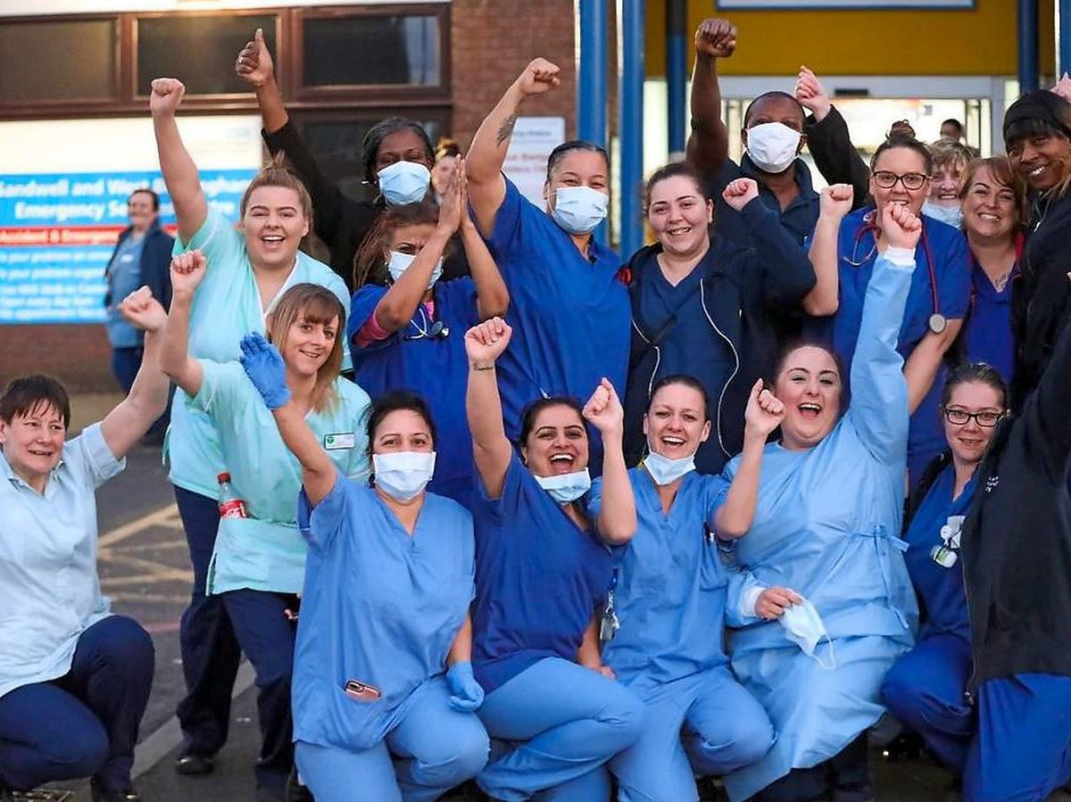 The Express & Star ran a series of features on our key workers, including the NHS heroes at Sandwell Hospital, pictured during a break