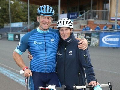 Zara and Mike Tindall take to the saddle to launch charity bike ride