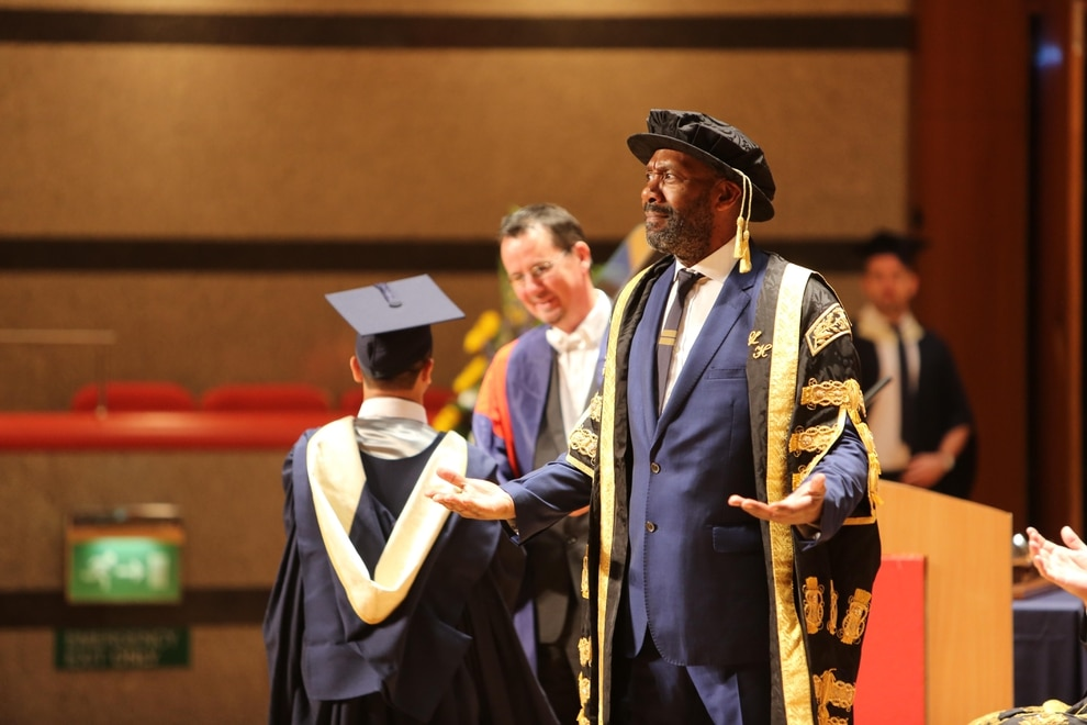 Sir Lenny Henry presides over his first graduation ceremony ...