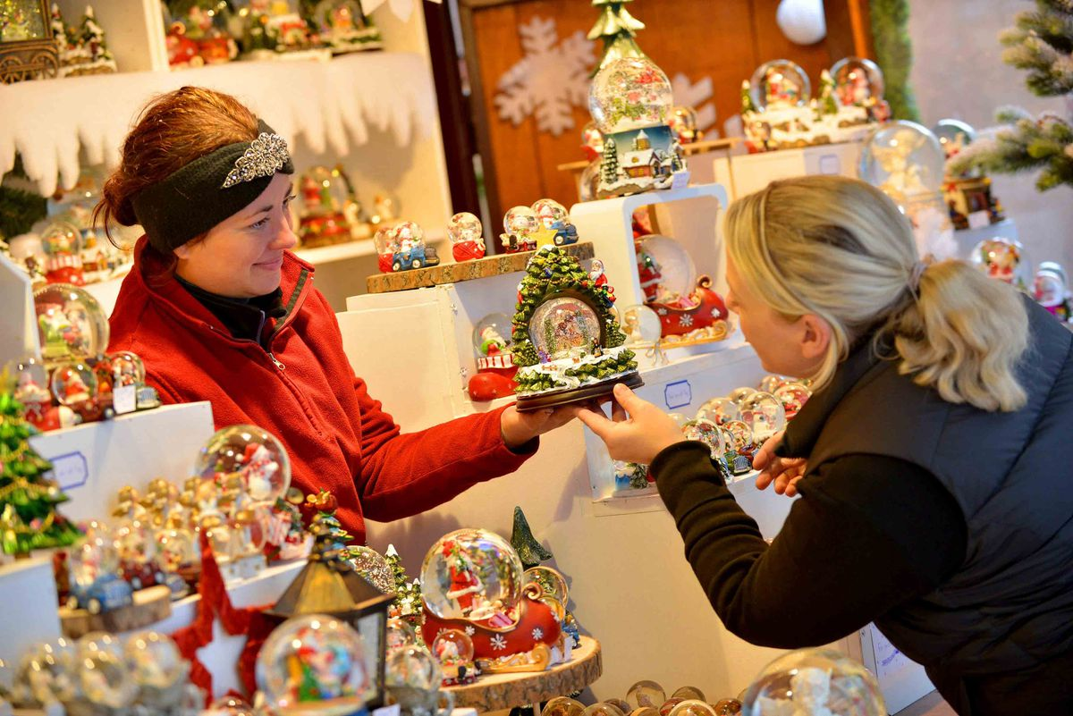 People were already getting a closer look at the gifts on offer