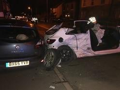 Passengers cut free after Hednesford crash