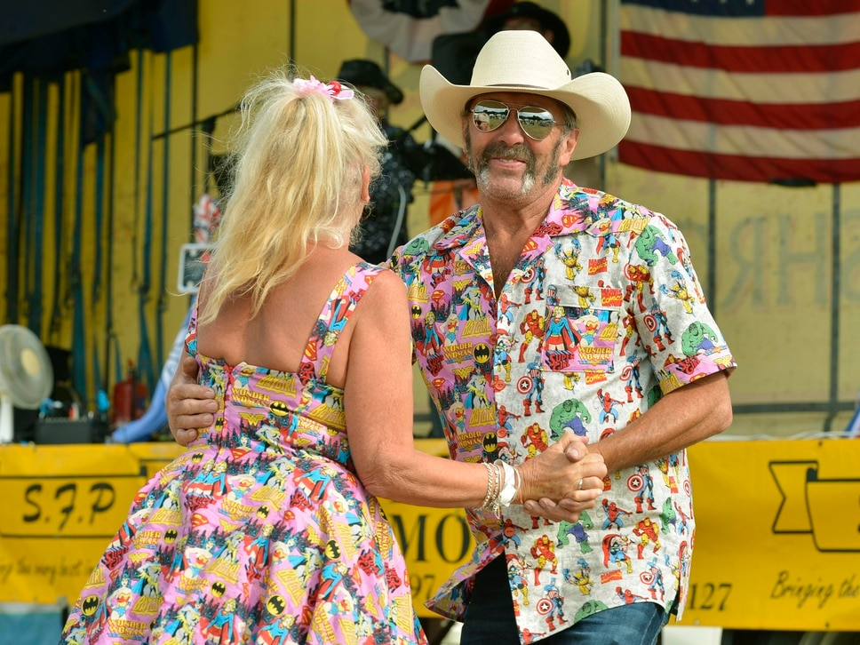 Country meets the countryside at village music festival - in photos
