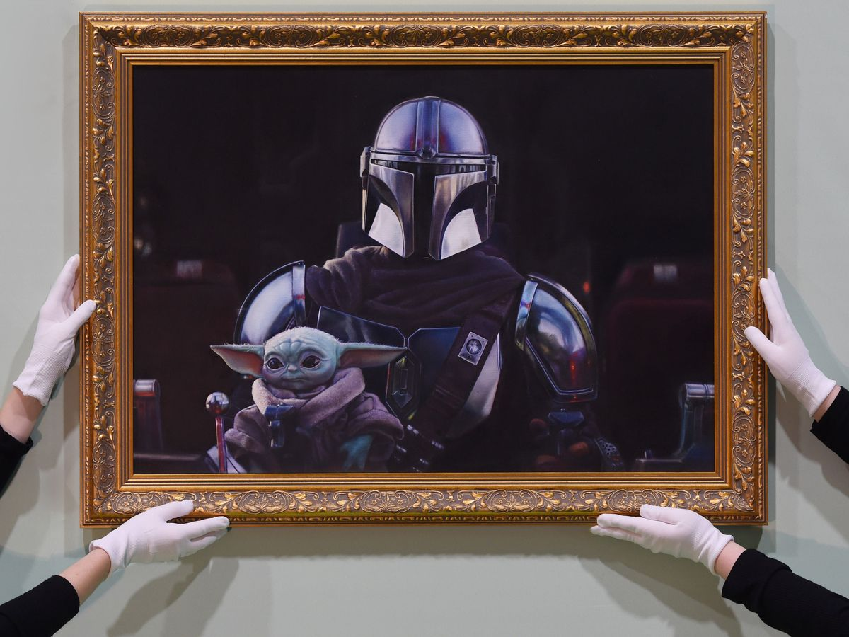 The Mandalorian And The Child artwork