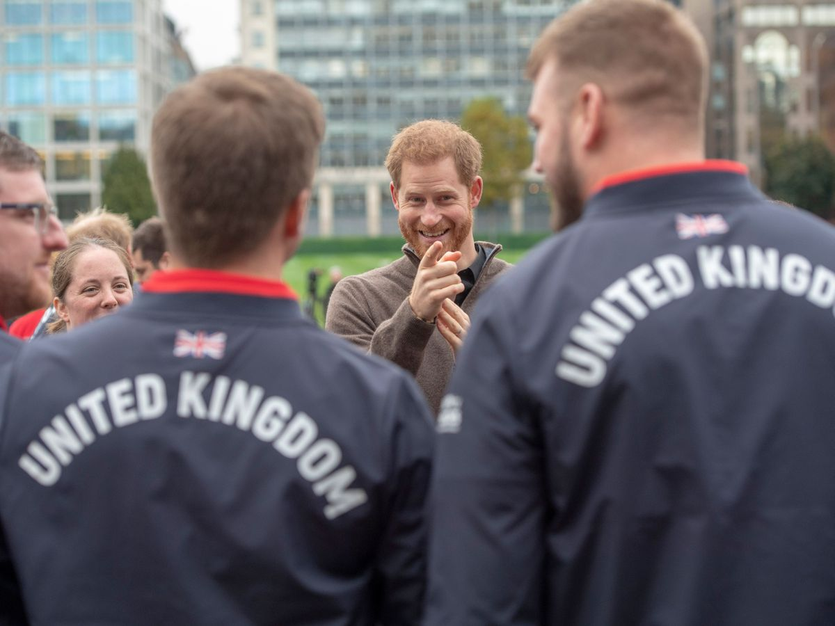 The Duke of Sussex meets Team UK members ahead of last year's scheduled Invictus Games, which was called off due to the pandemic