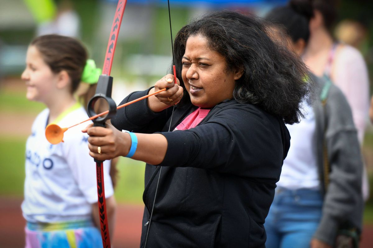 Archery was among the events on offer.