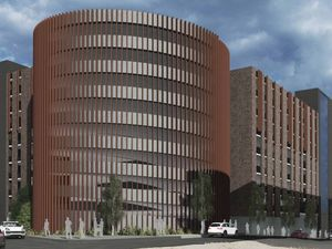 Artist's impression of a huge multi-storey car park and residential and commercial development in London Street, Smethwick. Photo: Four Architects