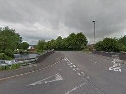 Three taken to hospital as car hits bridge on Brierley Hill Road