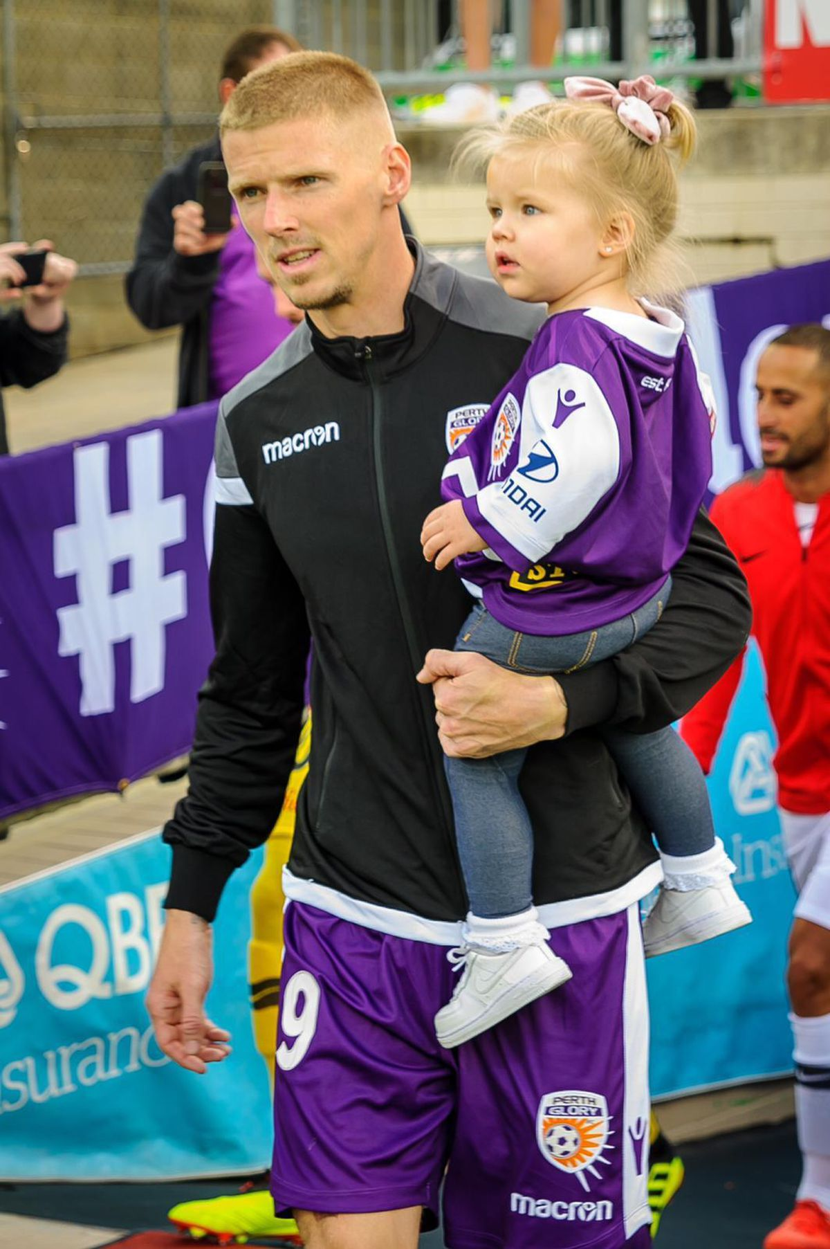 Keogh with daughter