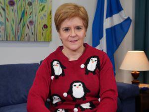 Nicola Sturgeon in the festive jumper
