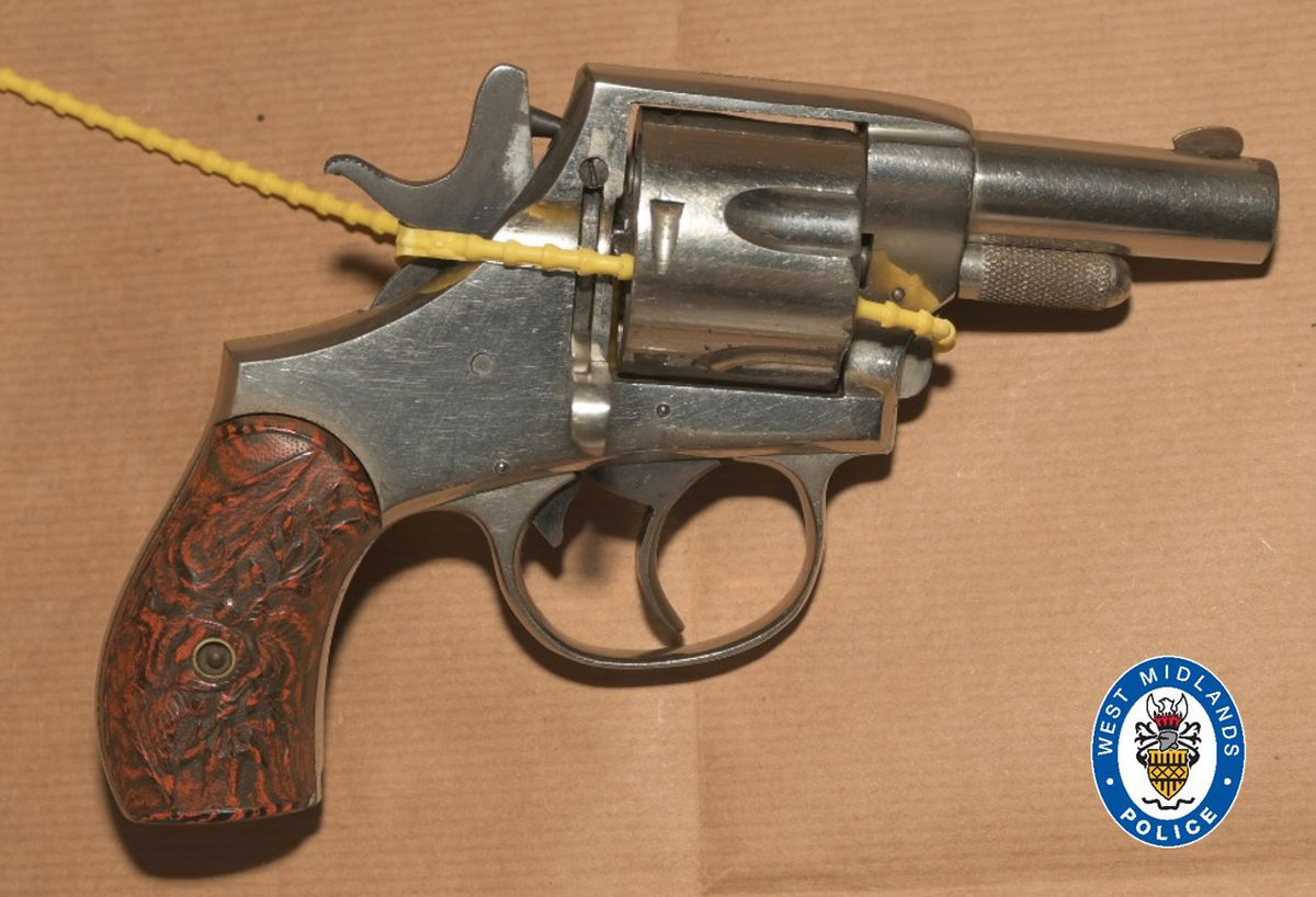 A revolver recovered as part of the investigation