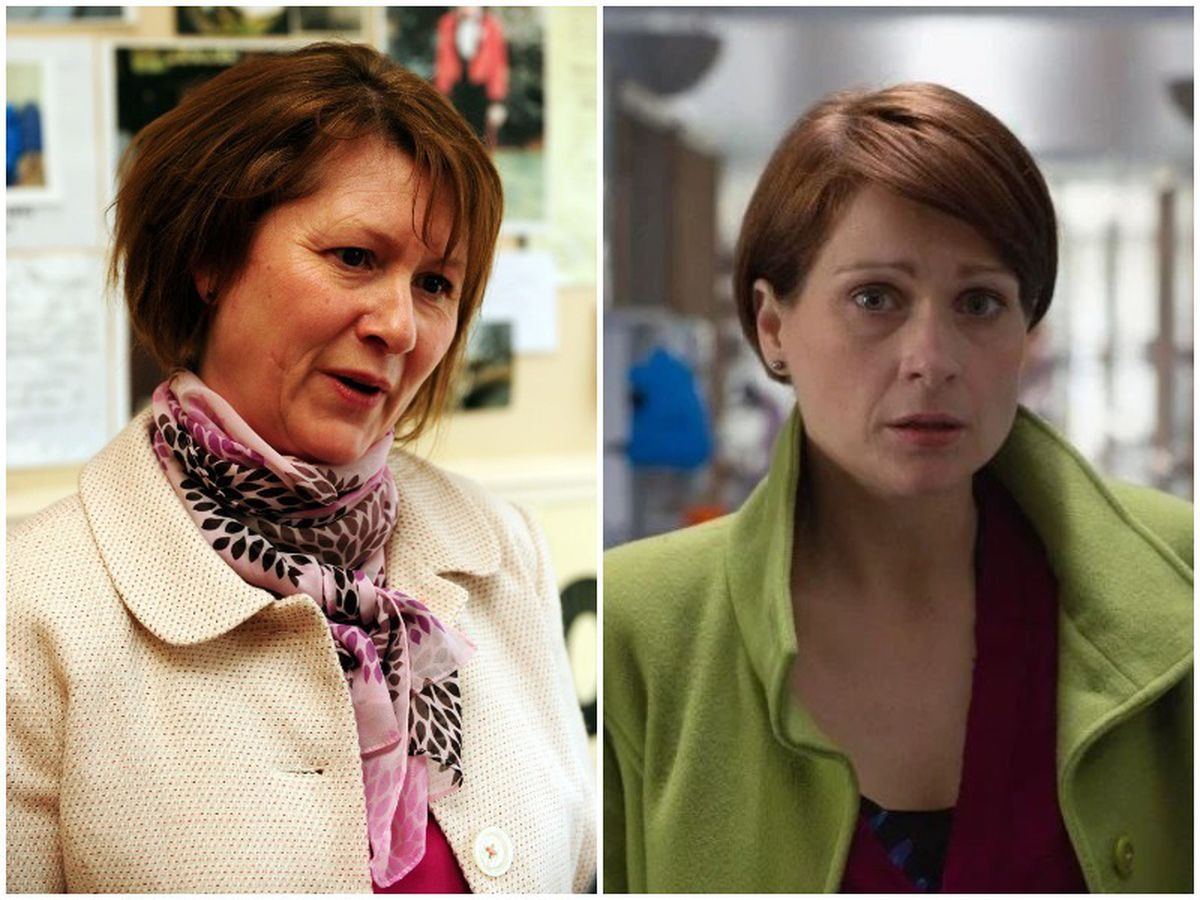 Cure the NHS campaigner Julie Bailey, pictured in 2009, is portrayed by, right, actress Sian Brooke in the Channel 4 drama