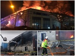 Network Packaging warehouse destroyed in huge Wolverhampton fire - PICTURES and VIDEO