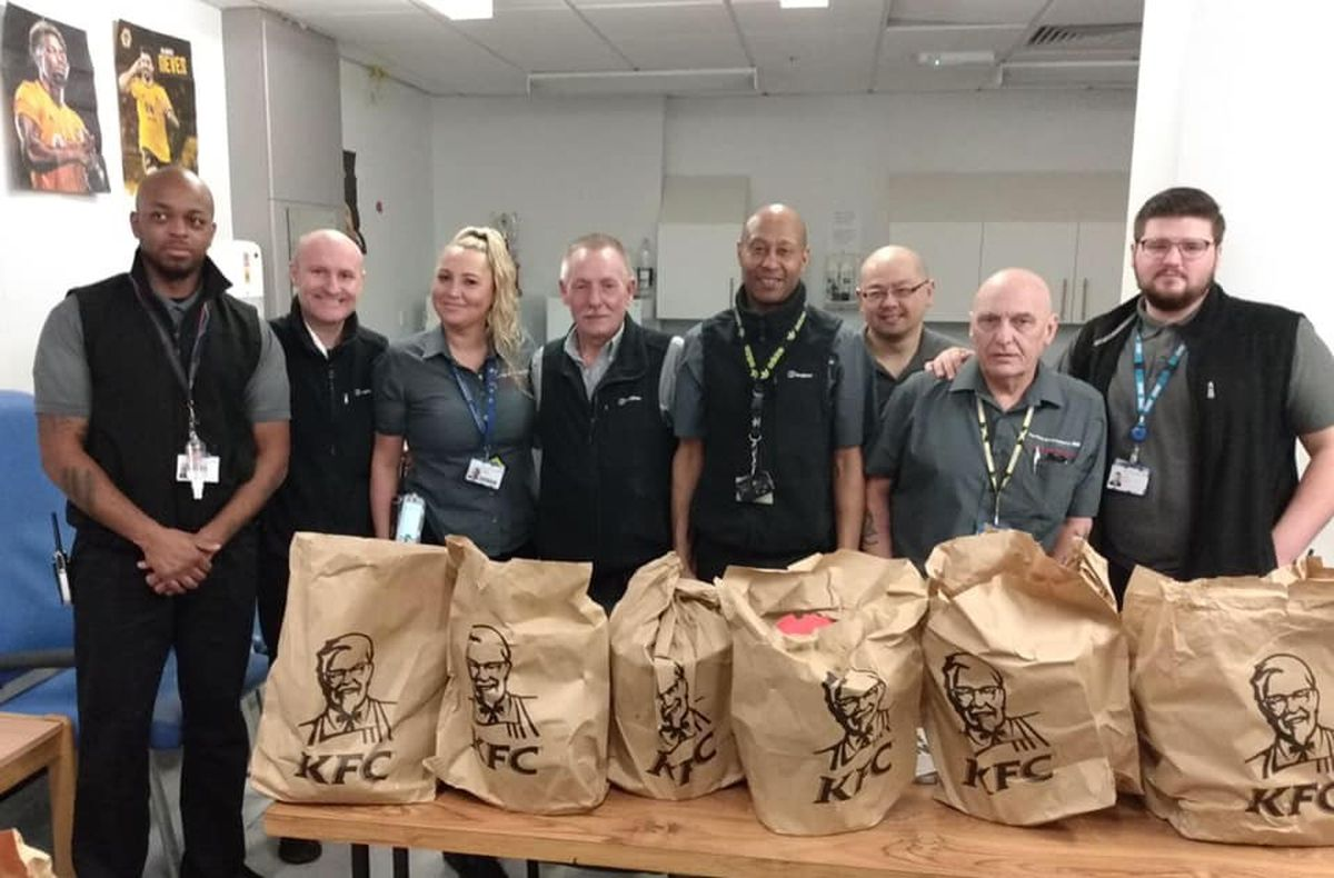 New Cross Hospital also received a large supply of food from KFC in Oxley