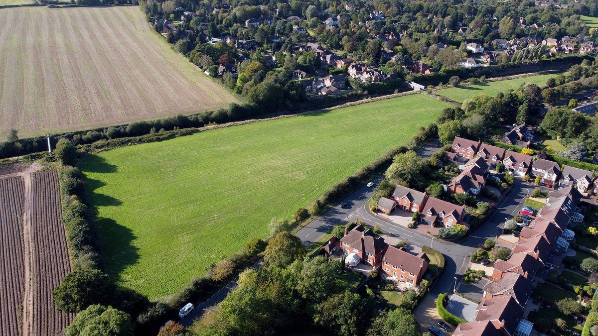 Worcester Lane, Stourbridge, is earmarked for dozens of homes