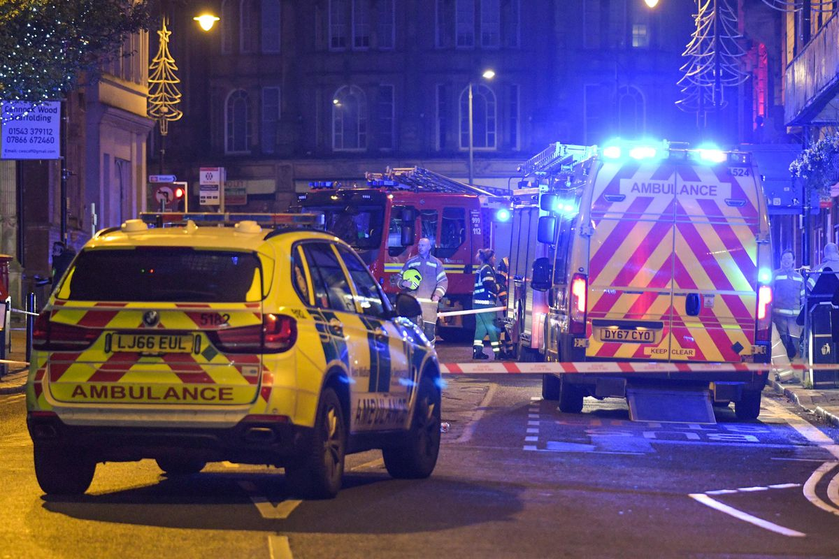 Emergency services at the scene of the incident in Wolverhampton. Photo: SnapperSK