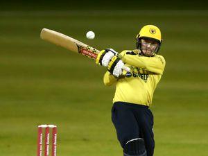 Birmingham Bears' Ed Pollock bats during the Vitality T20 Blast match at The County Ground, Northampton..