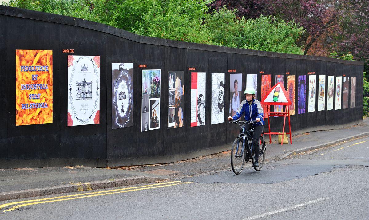 Some of the artwork in Bilston