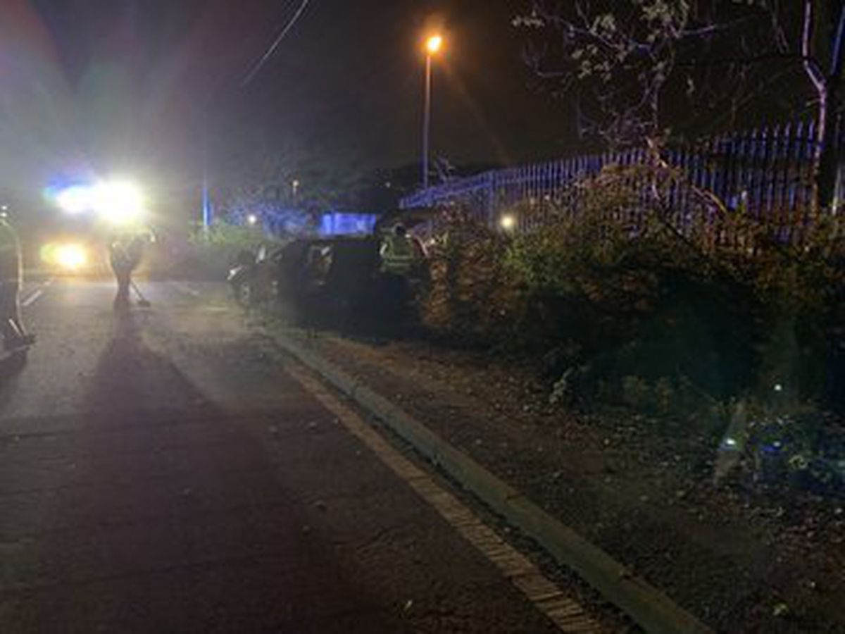 The driver had left the scene. Pic: @WMFSHadenCross