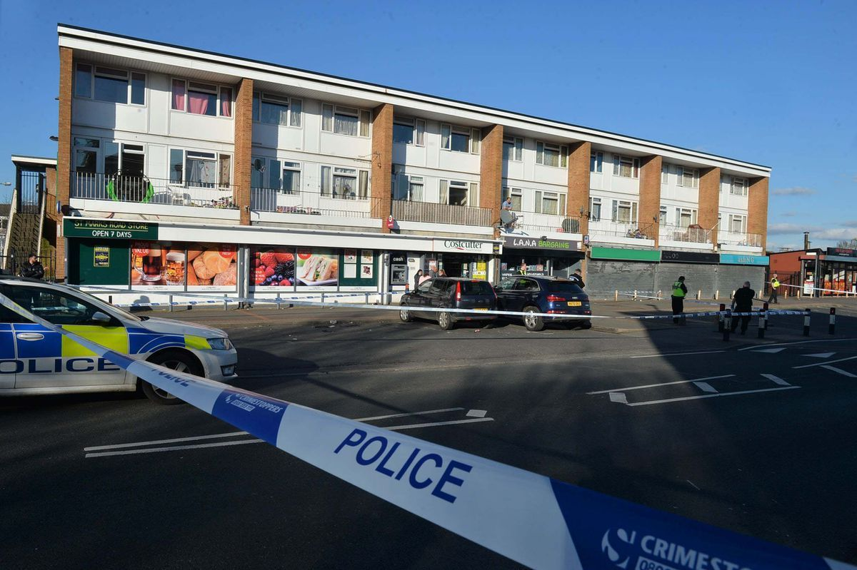 A man was stabbed in a separate incident at the nearby Costcutter