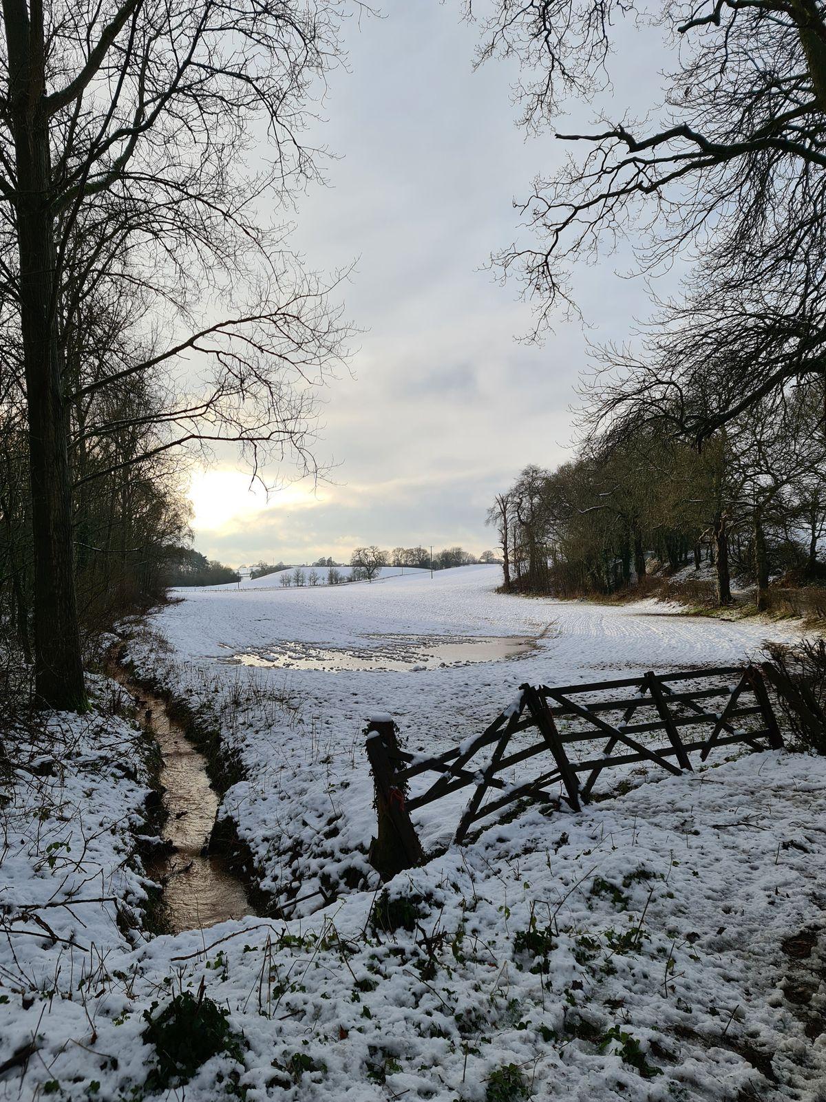 Snowy scenes in Kinver by Jamie Clark