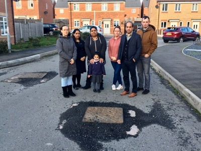 Residents' rage as housing estate road still not finished six years on