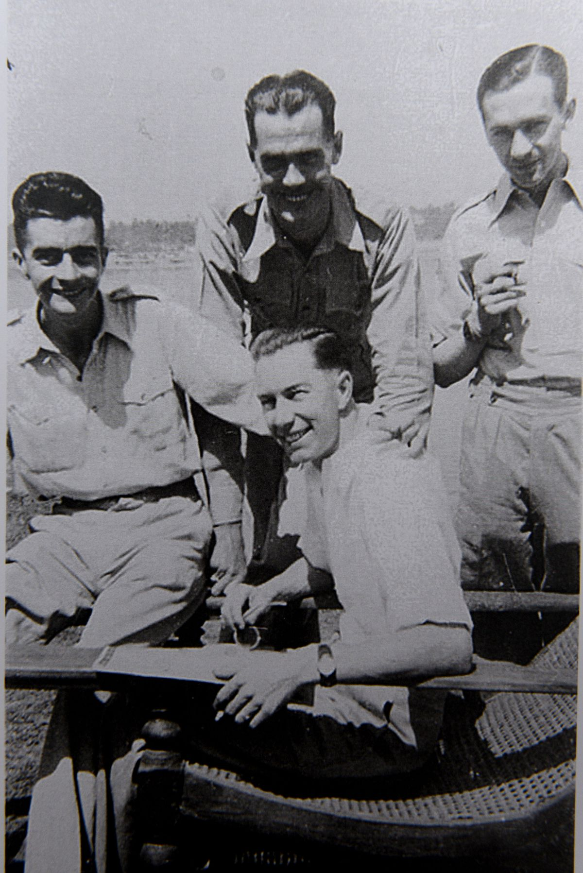 George, pictured on the left, in 1942