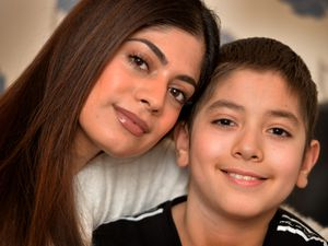 Sana Mahmood, from Walsall, with her brother Dani who she calls her 'little hero'