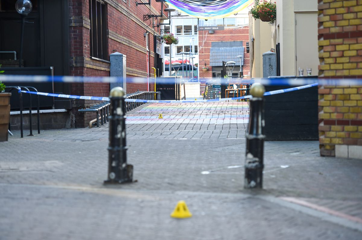 Police tape at the Arcadian Centre in Birmingham. Photo: SnapperSK