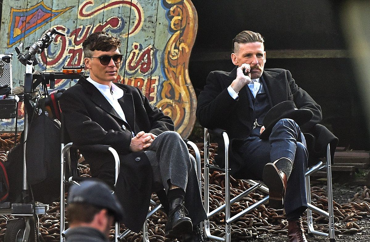 Cillian Murphy and Paul Anderson who plays Arthur Shelby