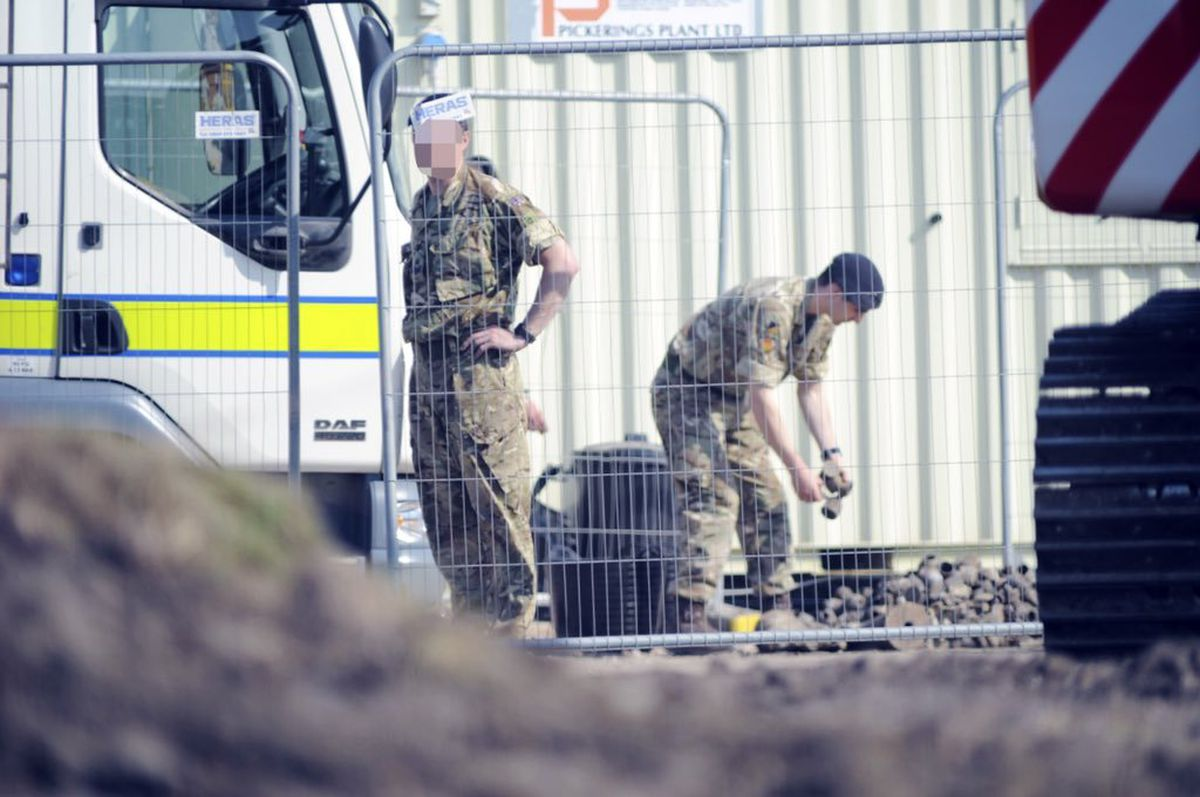 The bomb squad at the scene. Picture: @snappersk