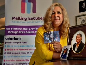 WOLVERHAMPTON COPYRIGHT EXPRESS AND STAR STEVE LEATH 27/10/2020..Pic in Wightwick of Molvia Maddox, for a Heather feature on her and her charity: Melting Ice cubes, that was inspired by her daughter: Krystie Maddox-Lue (she had Friedreichs Ataxia and passed last year)..