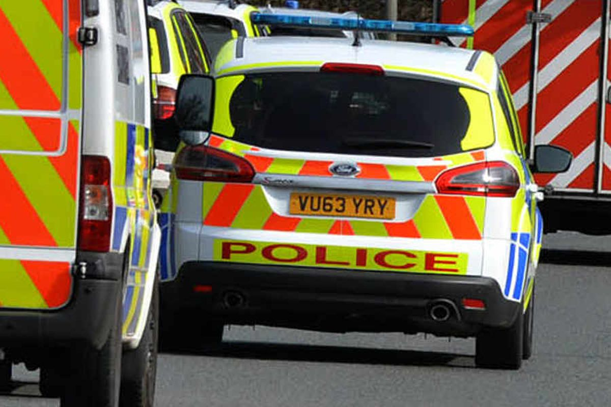 Lichfield road is closed by crash