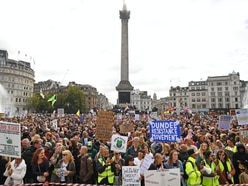 Thousands gather in central London for anti-lockdown protest