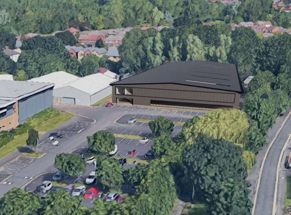 A computer generated image of the new technical centre at Wolverhampton College's Wellington Road campus in Bilston