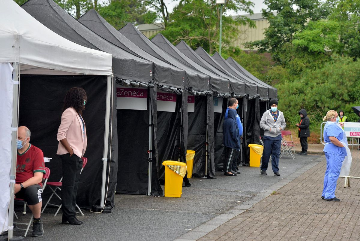 The centre had marquee tents set up for registration, vaccination and resting afterwards