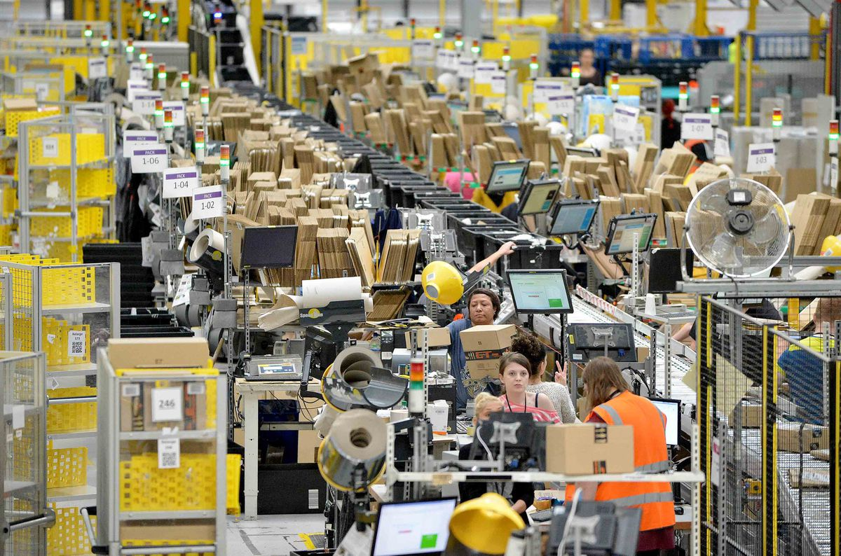 Inside the massive Amazon fulfilment centre at Rugeley