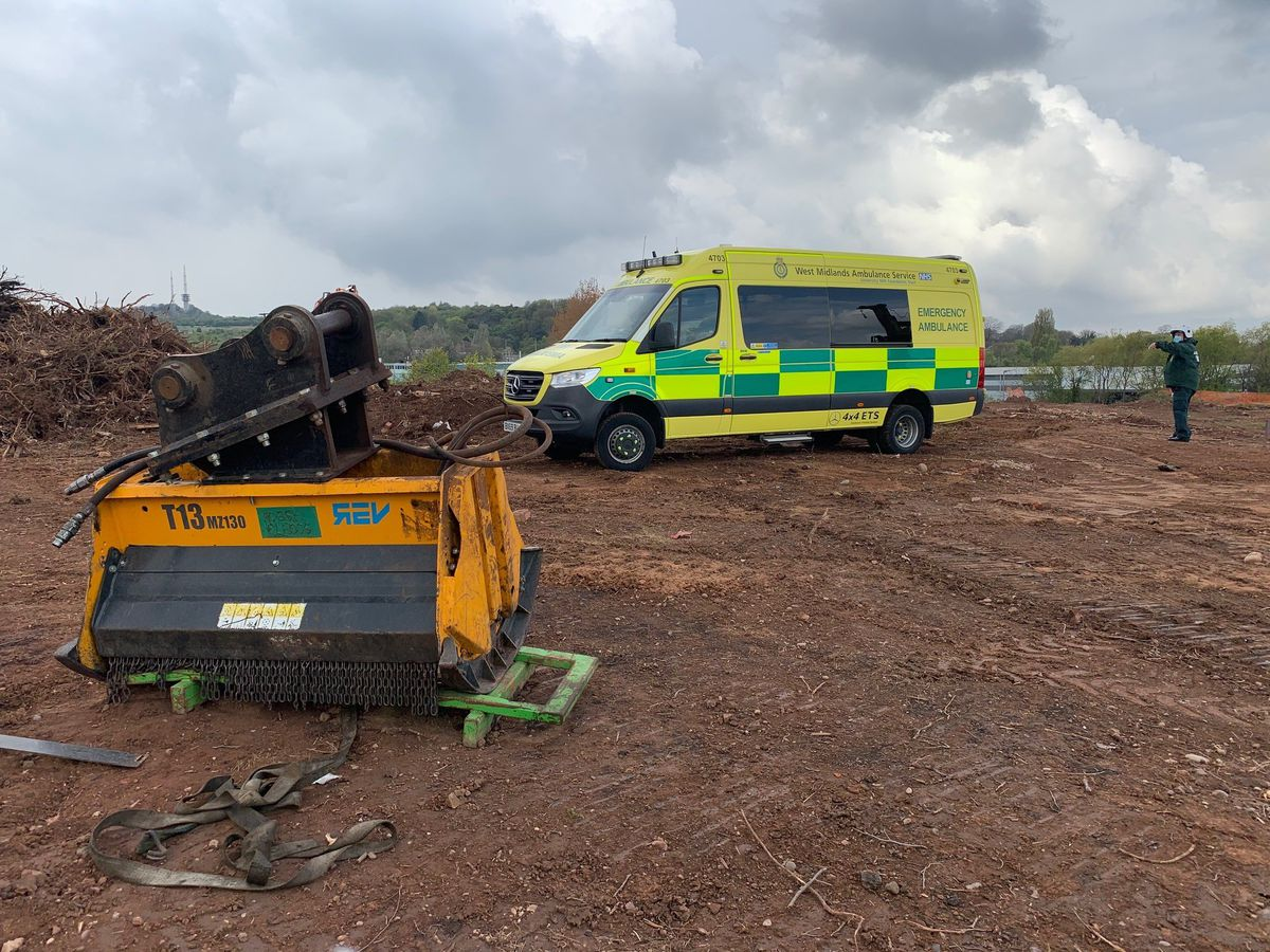 Work has started on the new West Midlands Ambulance Service hub in Oldbury