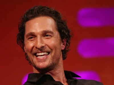 Matthew McConaughey addresses pupils as he receives original high school diploma
