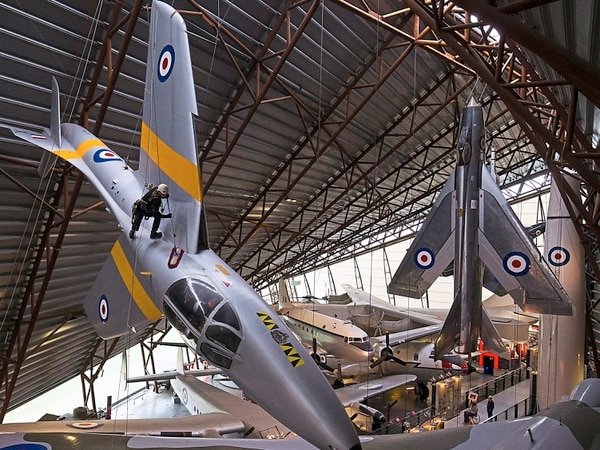 Nerves of steel as team polishes planes at RAF Museum Cosford - with video and pictures