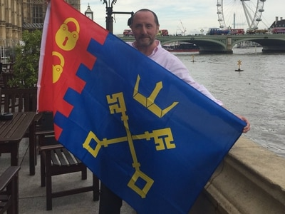 MP Eddie's flying the flags for Willenhall and Bloxwich in Westminster